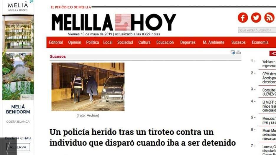 Años Herido Anoche Melillense Con Policía Un En De Tiroteo 30 I76fybYgv