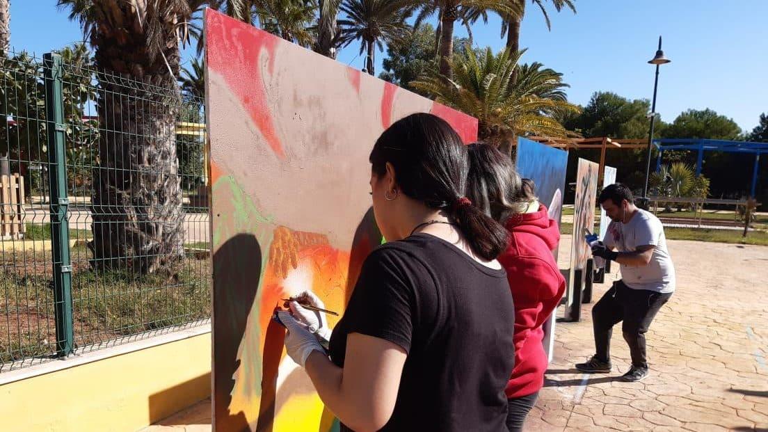 concurso de grafitis Escuela Gloria Fuertes 2019