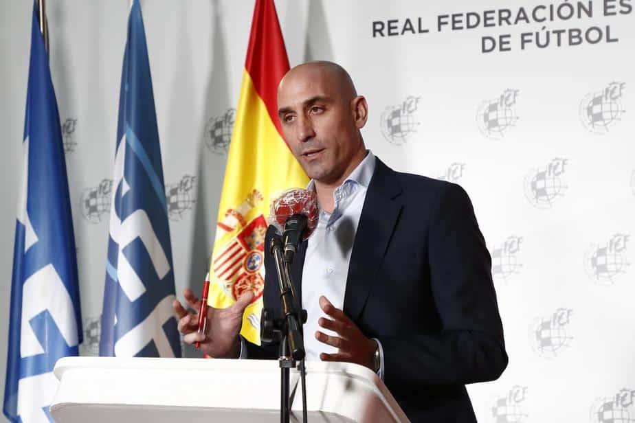 Rubiales, presidente de RFEF. Fuente: Televisión de Melilla